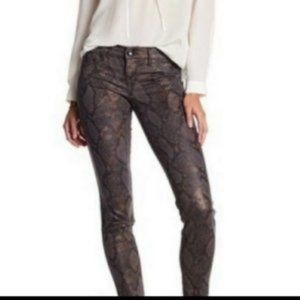 Royalty For Me Brown Snake Skinny Cropped Jeans